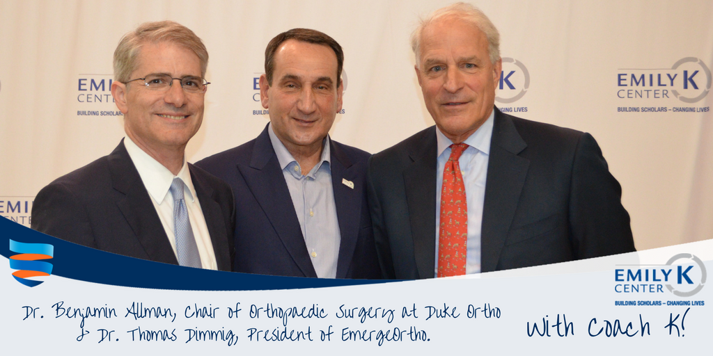 EmergeOrtho Physicians Meet Coach K at the Emily K Center in Durham, NC