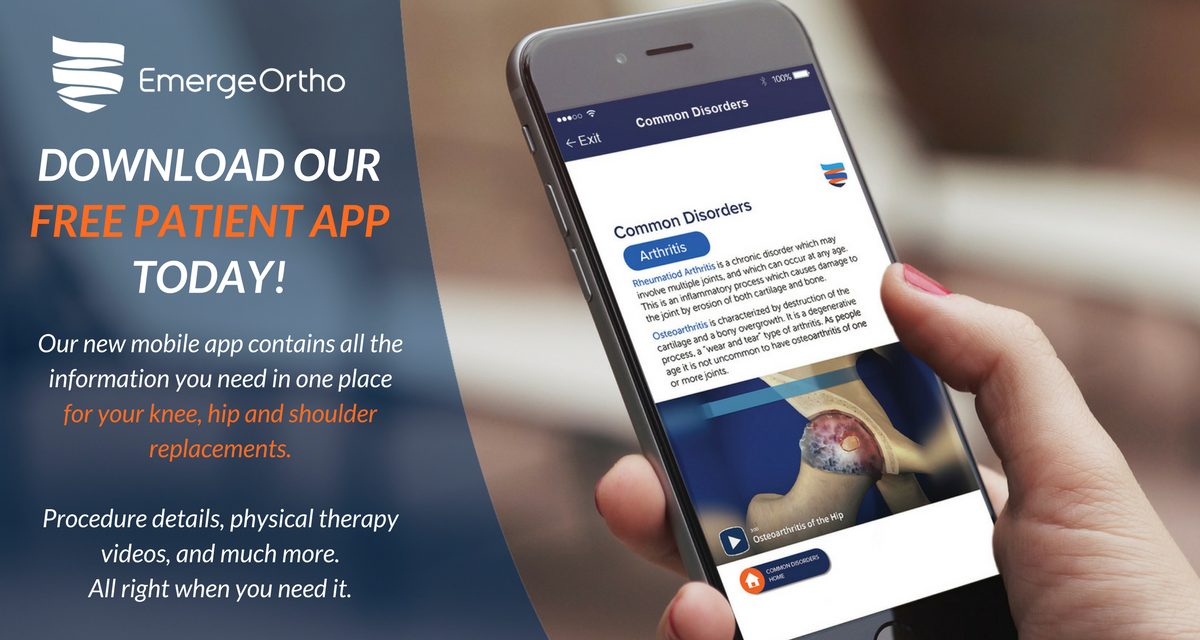 New App for Joint Replacement Surgeries! » EmergeOrtho