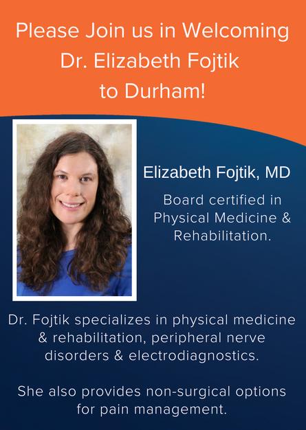 EmergeOrtho Welcomes New Rehab Medicine Physician to Burlington and Durham!