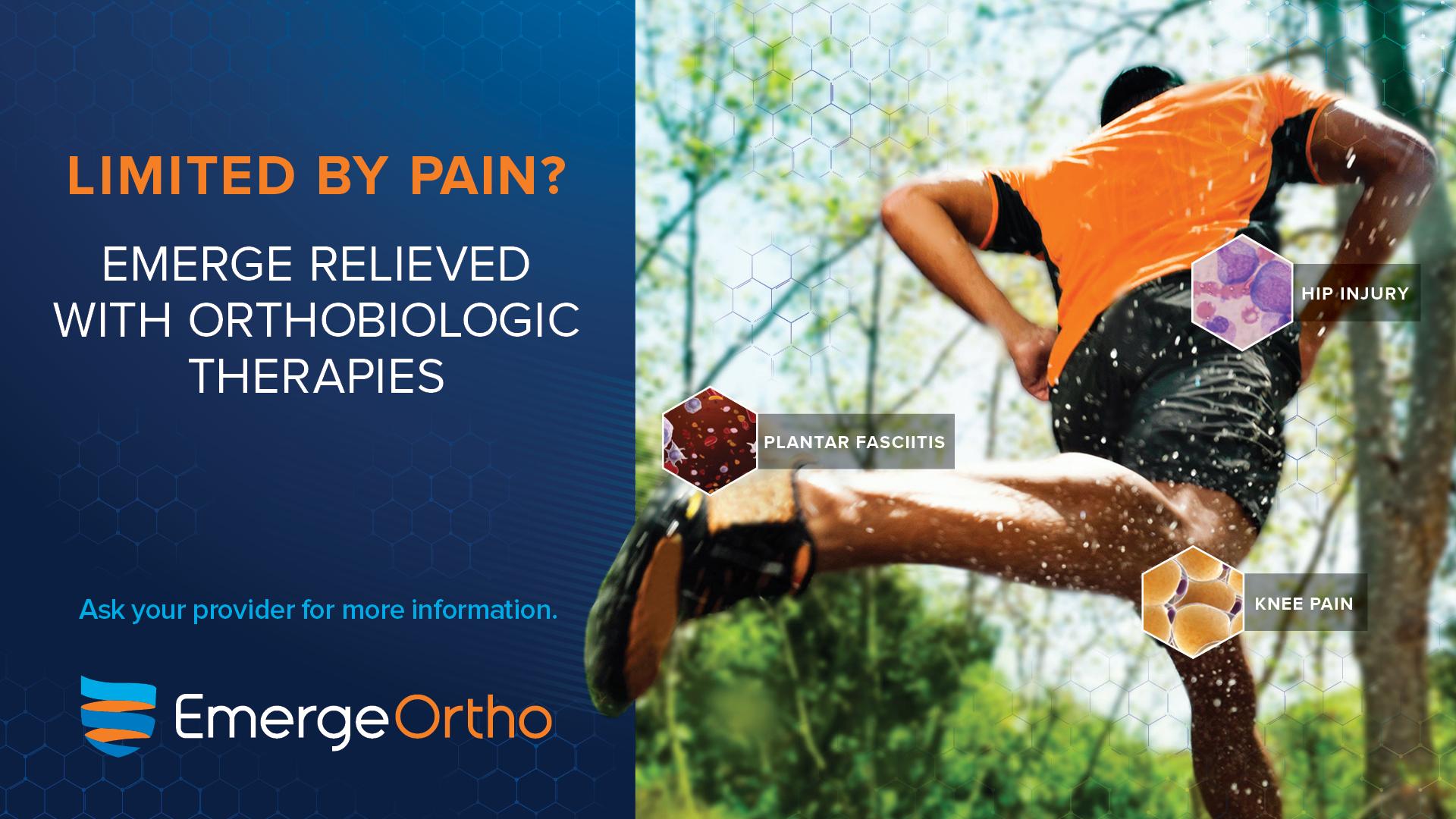 Orthobiologic Treatment Research To Begin In-House » EmergeOrtho