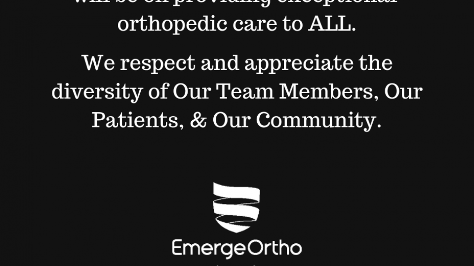 A Message From the EmergeOrtho Triad Region Physicians