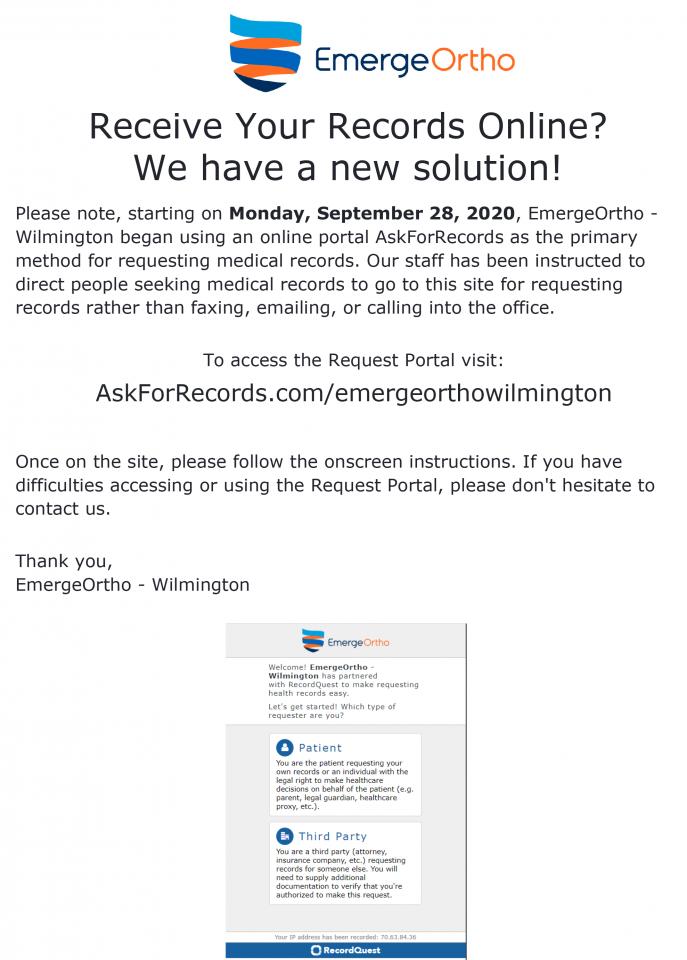 Patient Records Wilington